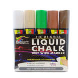 Rainbow chalk 15mm Broad Nib Liquid Chalk Markers Nature Pack
